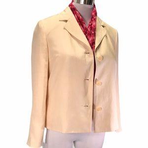 Silk Linen Blush Lined Jacket Blazer